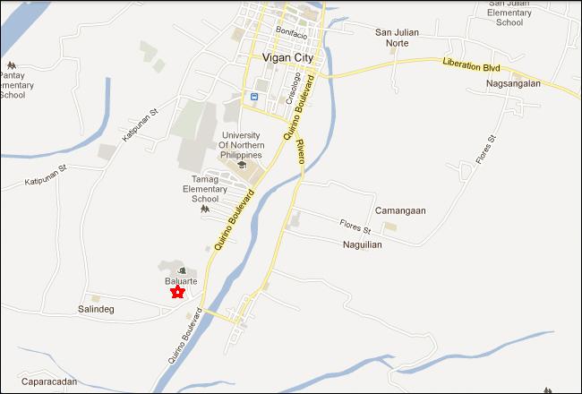 Baluarte Zoo Vigan City Map