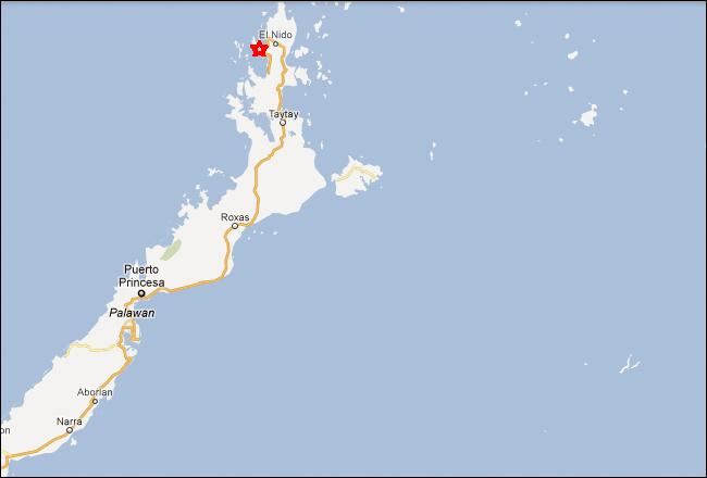El Nido Palawan Philippines Map