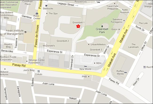 Greenbelt Mall Makati Map