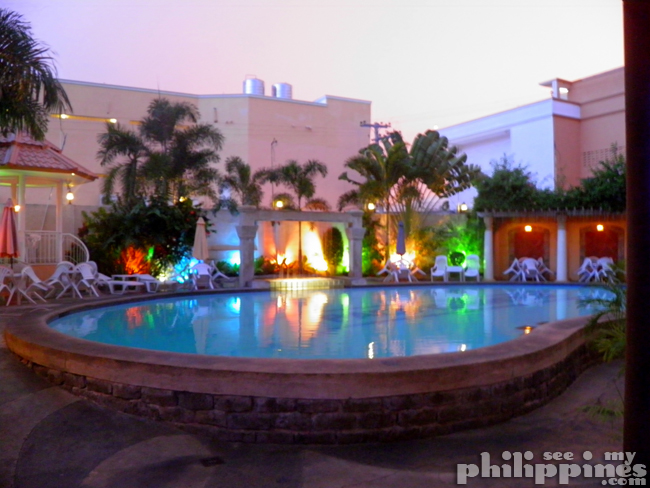 Pacific Breeze Hotel Pool Night