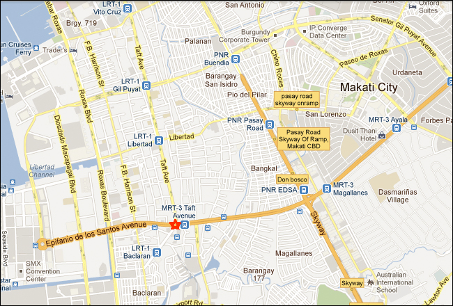 Shogun Suite Hotel Pasay Manila Map