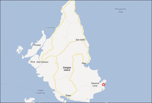 Buddhas Surf Resort Siargao Philippines Map